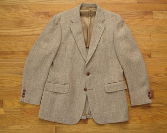 mens vintage harris tweed sport coat