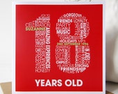 Personalised 18th Birthday Card - Personalized 18th Birthday Card - Birthday Card for Him - Birthday Card for Her