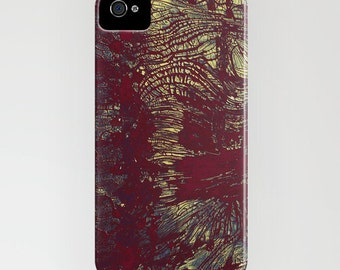Abstract Phone Case - Rusty Gold Texture Painting - Designer iPhone Samsung Case