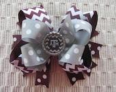 2559 Texas A&M Aggie double boutique hair bow