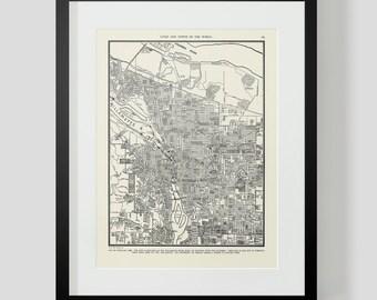 Map of Portland Oregon