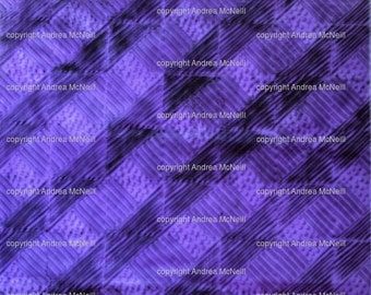 Large sheet violet tissue paper, handprinted with abstract lino print design