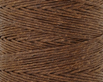 Tools & Supplies-12-Ply Waxed Irish Linen-Walnut Brown-10 Yards