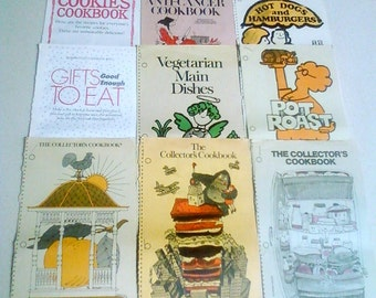 Woman's Day ~~ The Collector's Cookbook series 1975 - 1987
