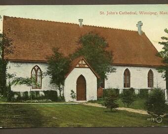 St John's Cathedral WINNIPEG Manitoba 1911 Vintage Postcard