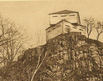 Old Fort St Helen's Island MONTREAL Quebec Vintage Postcard1941 Montreal and V Cancel