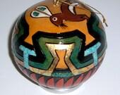 Pima Basket design with Rabbit Ornament