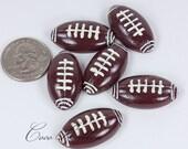 32mm 12pcs Football Sport Ball Cheer Flatback Resin Cabochons