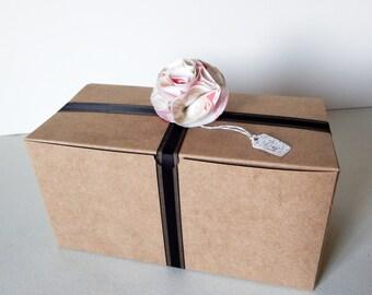 "12 - 9x4.5x4.5"" Kraft Gift Boxes"