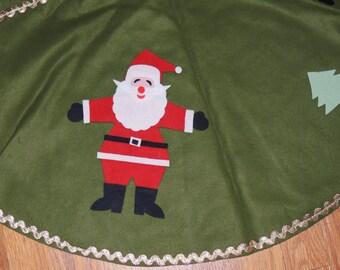 1950s SANTA Motif Tree Skirt Made in Japan