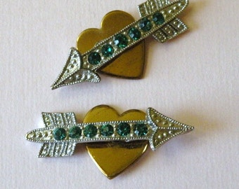 1950s Valentine Rhinestone Embellished Hearts Arrows Move
