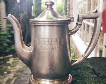 Vintage 1953 Silver Plate Teapot from Battery Park Hotel in Asheville NC
