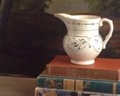 Vintage Stoneware Pitcher Copper Lustre Williamsburg