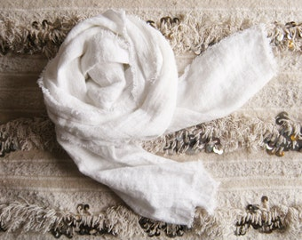 the ingrid washed linen scarf, linen scarf, scarf, linen