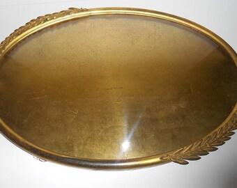 Vintage Oval  Metal  Picture Frame