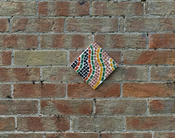 Mosaic garden wall art