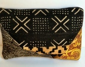 Large Mudcloth Clutch Purse, Oversized Upholstery Fabric Clutch Handbag, African Mudcloth