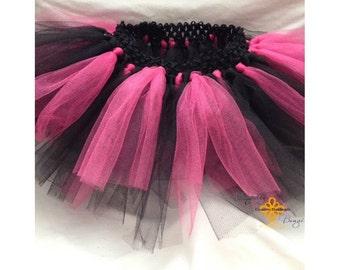 Pink and black tutu