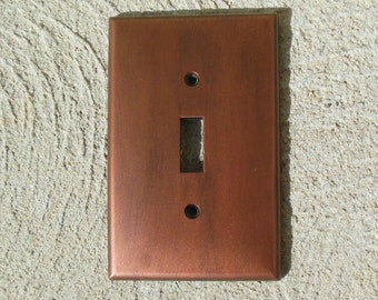 "Antiqued Copper ""Made to Order"" Light Switch Plate Cover"