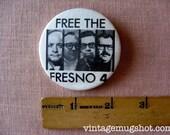 Free The Fresno Four Pinback Button Fresno Bee Newspaper Reporters
