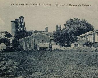 Vintage French Unused Postcard - La Baume-de-Transit, Drôme, France