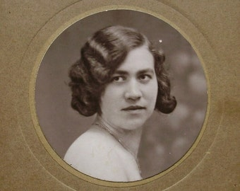 Vintage French Photo - Young Woman (Caloin, Etaples)