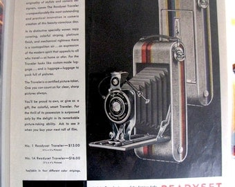1930 Agfa Ansco Readyset Traveler Camera Antique Vintage Photography Ad