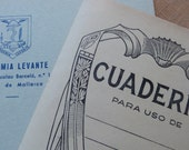 SALE 5 x Vintage A5 Spanish CUADERNO from 1950s - Antique unusued notebook from Spain - Old school stationery