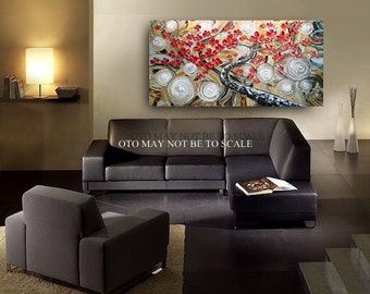 "Made to Order 72"" Big Painting Enchanted Textured Tree of Life Abstract Painting Art Canvas oil Wall Decor Artwork Impasto art by OTO"