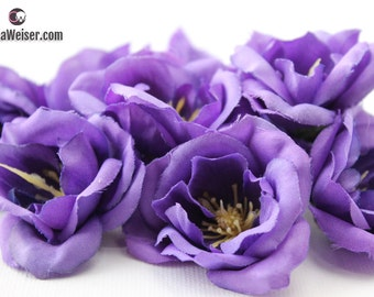Artificial Flowers - Purple Wild Roses - Hair Accessories, Flower Crowns, Halos, Wedding Crowns