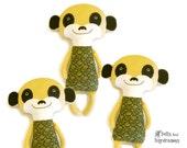 Meerkat Softie PDF Sewing Pattern Stuffed Toy
