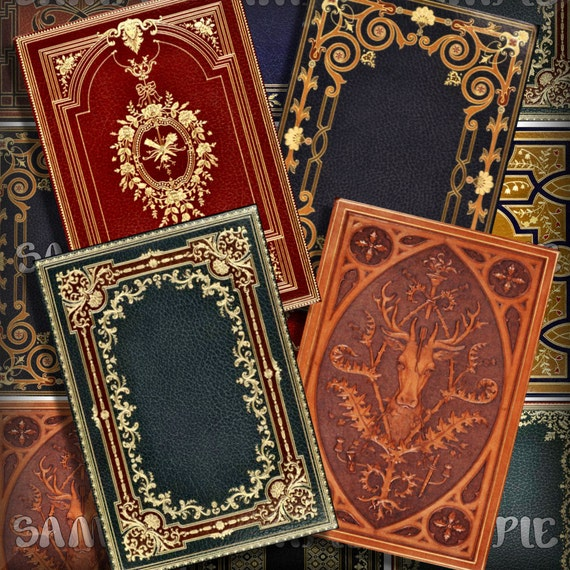 Book Cover Collage Design : Victorian book covers no atc aceo printable download x