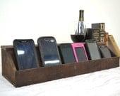 "ORGANIZER - ""Hawthorne"" - Wine Barrel Charging Station / Desk Organizer - 100% recycled"