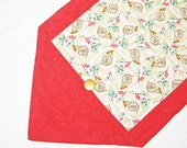 SALE Holly and French Horn Table Runner