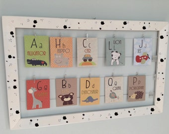 Alphabet Cards, A to Z Animal Alphabet Flash Card, Nursery Wall art, Alphabet Fine Art Print ABC Card, Nursery decor, Baby room wall decor