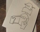Robot Boy Card - Rockets & Robots