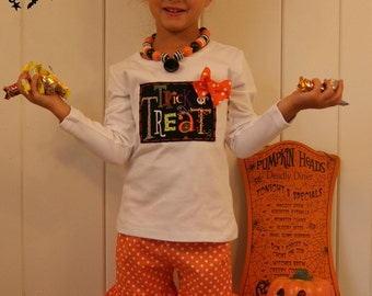 Trick or Treat Shirt for Girl .... Toddler Youth Girl Halloween Clothing