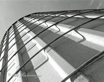 Silo Abstract Black & White Wall Art Home Decor Digital Download Fine Art Photography