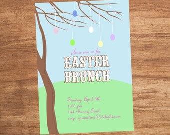 Easter Egg Tree Custom Party Invitation