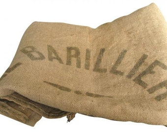 French Burlap Vintage Grain Sack