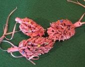 Pink Magnolia Pod Ornament Set