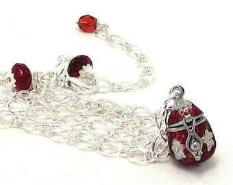 Inspirational Jewelry / Graduation Jewelry / Graduation Gift / Secret Message Necklace / Secret Message Jewelry / Red Locket Necklace