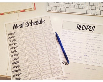 IMMEDIATE DOWNLOAD-Meal Planning Printable- PDF