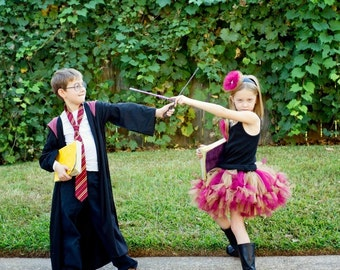 Harry Potter Costume Inspired by - Harry Potter Inspired Petti Tutu only - Harry Potter  Inspired Tutu - Hobbit sewn petti tutu - NB - 7X -