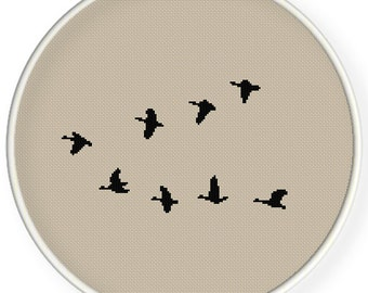 Instant Download,Free shipping,Counted Cross stitch pattern,Cross-Stitch PDF,birds ,zxxc0428