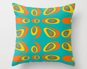 Modern Pillow, Mid Century Modern Pillow, Geometric Pillow,Mid Century Throw Pillow, Retro Pillow, Mod Cushion