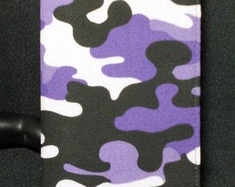 Purple Camo Checkbook Cover