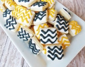 Mini Chevron cookies
