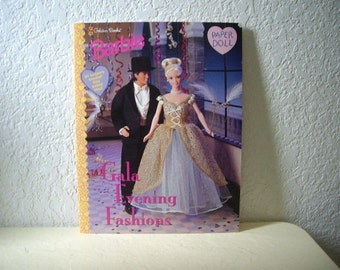 Barbie Paper Doll Booklet, Gala Evening Fashions, unpunched