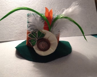 Green luck of the Irish top hat